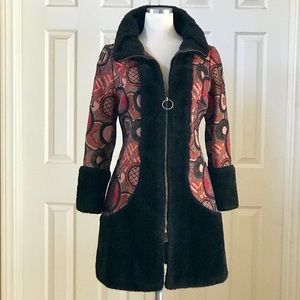 Vintage 60s Chinese Empress Style Winter Coat